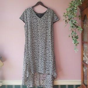 Lane Bryant Plus High Low Sheer Lined Dress